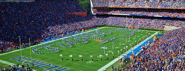 Ben Hill Griffin Stadium at the University of Florida in Gainesville, Florida