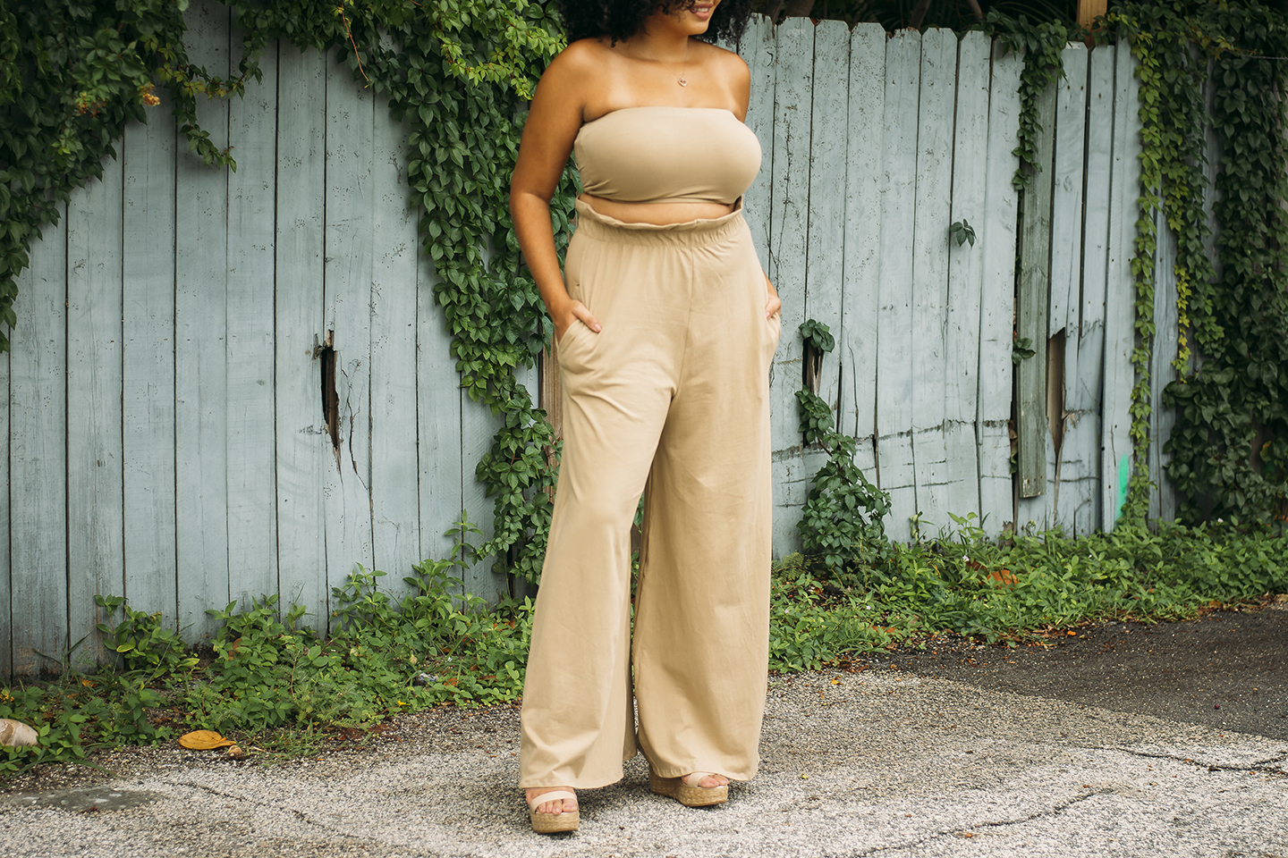 About Me | Plus-Size Fashion two-piece nude jumper from Bombshell Boutique