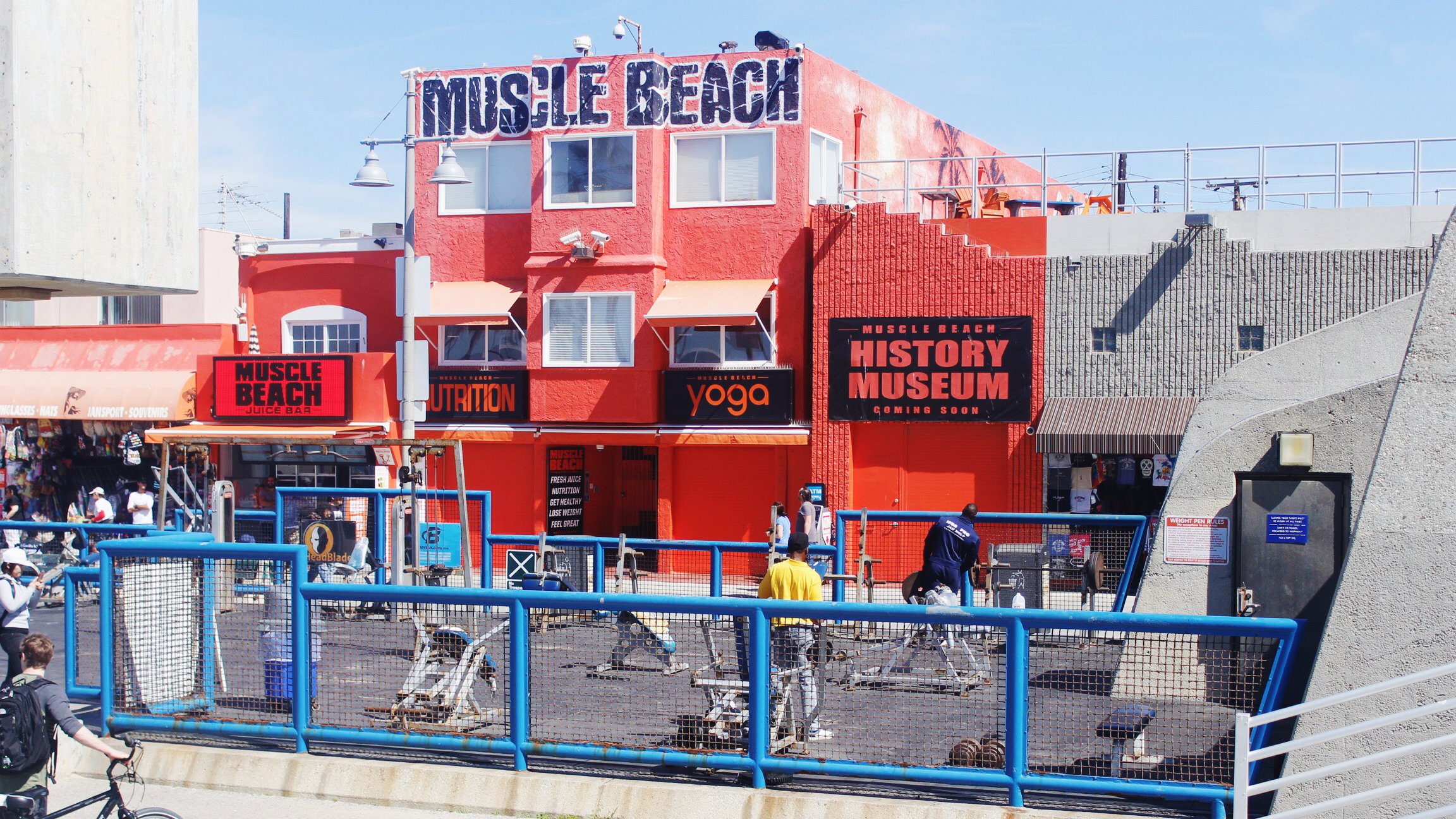 Muscle Beach along Venice Beach Boardwalk, Los Angeles California
